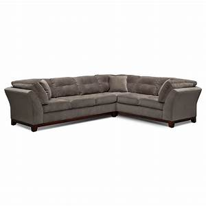 sebring 2 piece sectional with left facing sofa gray With gray sectional sofa value city