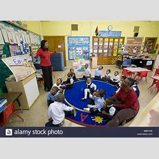 Prekindergarten Classroom In Detroit Public Schools Stock Photo 24432444 Alamy