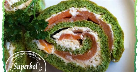 recette biscuit roule au persil  saumon