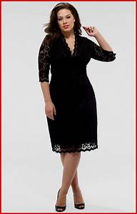 black dress plus size cocktail naf dresses With robe taille 50
