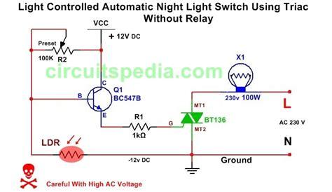 Light Activated Dark Switch Circuit Diagram