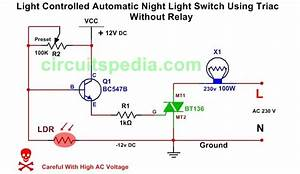 Light Activated   Dark Activated Switch Circuit Diagram