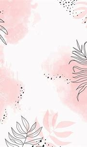 Download premium vector of Pink leafy watercolor ...