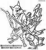 Ninja Turtles Coloring Mutant Teenage Splinter Cartoon Robots Colorings sketch template