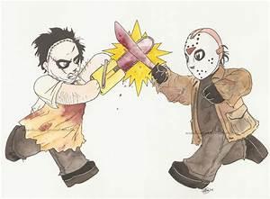 Leatherface vs Jason by AmberStoneArt on DeviantArt