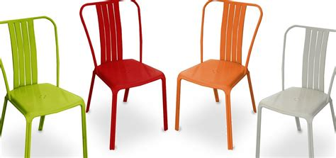 chaise coloree pas cher chaise de jardin azuro orange lot de 2 achetez nos chaises de jardin azuro orange lot de 2