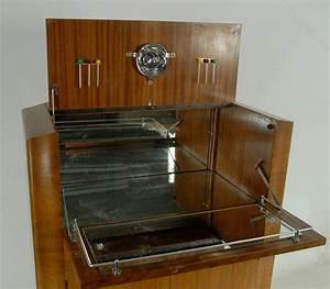 Art Deco Walnut Cocktail Cabinet By Rivington