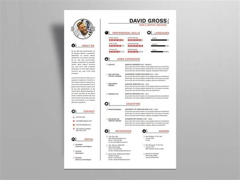 Adobe Illustrator Resume Template by Free Style Resume Cv Template With Cover Letter In