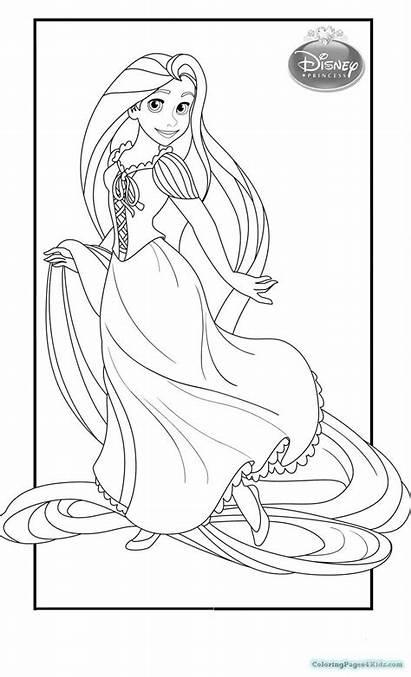 Rapunzel Coloring Pages Printable Princess Disney 1025