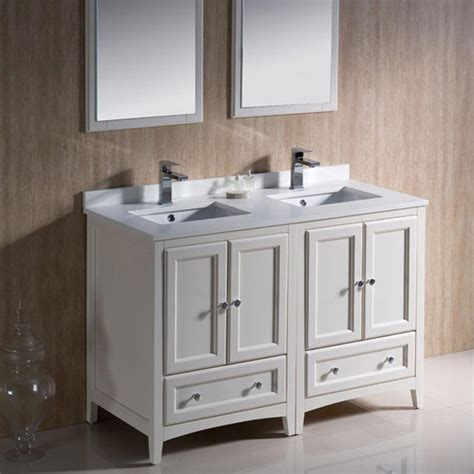 Bahtroom Delicate Antique Double Sink Bathroom Vanities