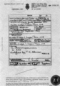 rockmine archive vault death certificates freddie