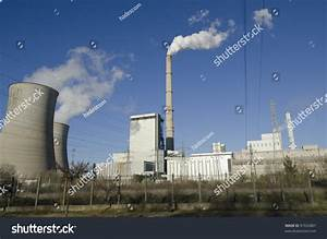 Thermal Power Plant With Chimneys Stock Photo 97932887 ...