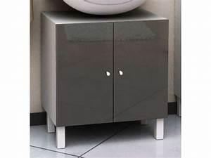 Meuble Rangement Salle De Bain But : meuble sous lavabo soramena coloris gris vente de meuble ~ Dallasstarsshop.com Idées de Décoration
