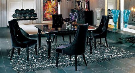 armani aa black velour dining chair