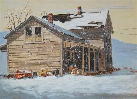 farm house painting  len stomski   farm