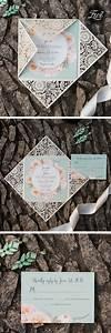 Best 25 floral wedding invitations ideas on pinterest for Laser cut wedding invitations minted