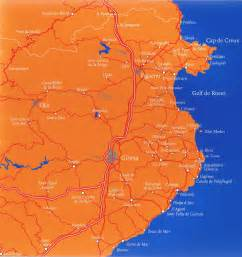 Costa Brava Spain Map