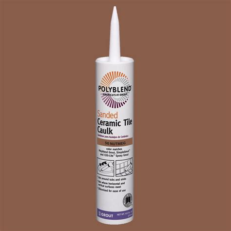custom building products polyblend 50 nutmeg brown 10 5 oz sanded ceramic tile caulk pc5010s