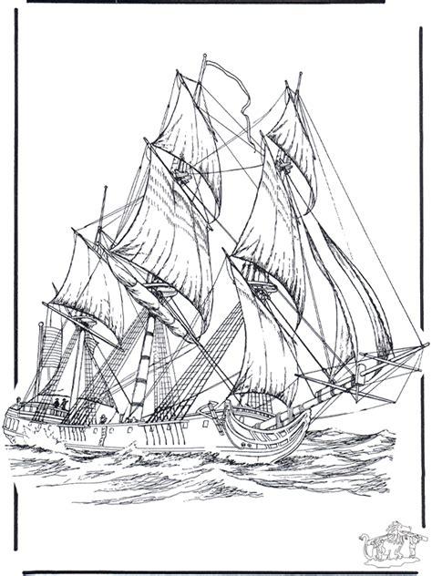 zeilschip  kleurplaten schepen