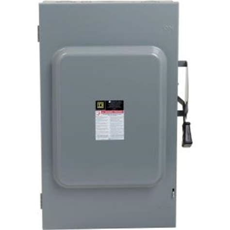 Square D 200 Amp 240 Volt 3 Pole Fusible Indoor General
