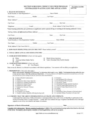 section 8 application form bmha section 8 fill printable fillable blank