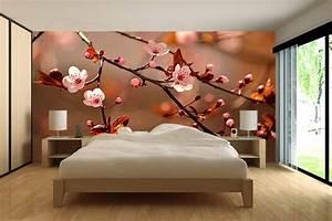 Papier peint chambre Fleurs de cerisiers Izoa