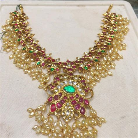 gutta pusala necklace and haram sets collection | SUDHAKAR GOLD WORKS