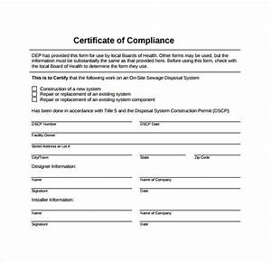 13 certificate of compliance samples sample templates for Certificate of compliance template
