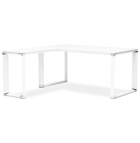bureau d angle design xline en bois blanc bureau de