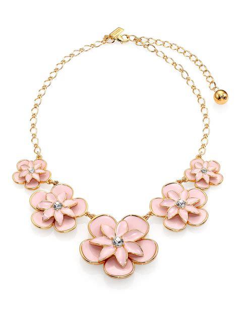 2033 kate spade flower necklace kate spade graceful floral enamel graduated necklace in