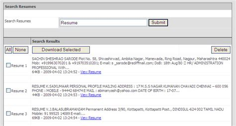 Free Resume Database Software by Free Resume Search Software Free Resume Search Software Chennai India