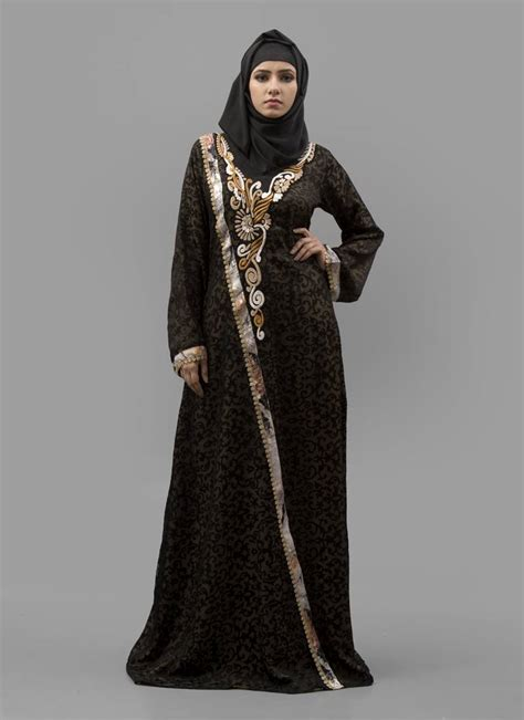 Maxi Arabian buy multicolor thread work digital print creap fabric