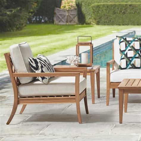 garden teak outdoor furniture covers williams sonoma