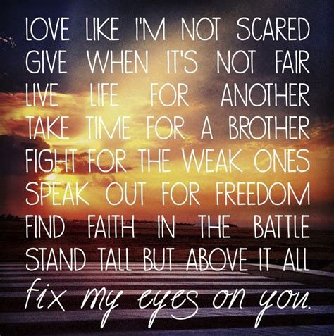 powerful christian song quotes
