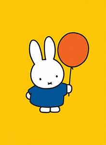 Miffy Holding a Balloon Mini Poster