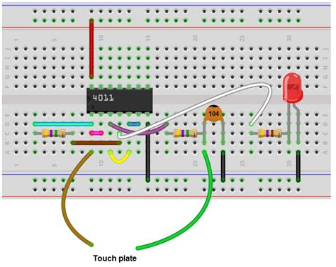 How Build Touch Off Circuit With Nand Gate Chip
