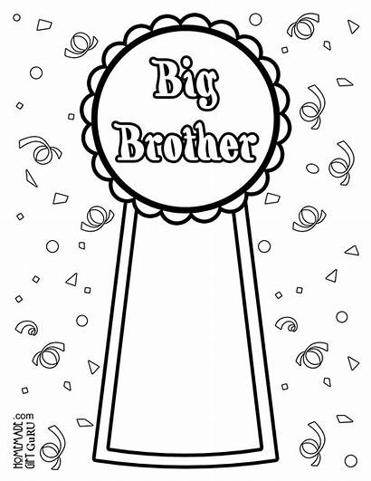 Coloring Brother Pages Sister Homemadegiftguru Right Interested