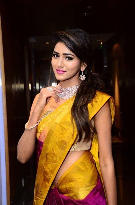 model shalu chourasiya hot navel stills  yellow saree