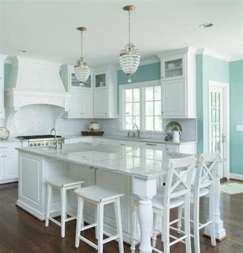 cuisine bleu clair couleur peinture cuisine 66 idées fantastiques