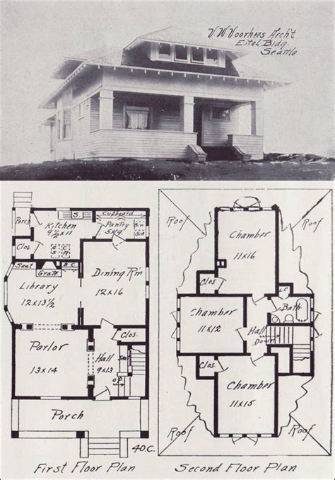 hip roofed transitional bungalow plan vintage seattle house plans