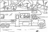 Camper Rv Coloring Camping Trailer Travel Colouring Sheets Sheet Wheel Printable Fifth Adult Nestofposies Template Pool Jawar Sketch Clip Printables sketch template