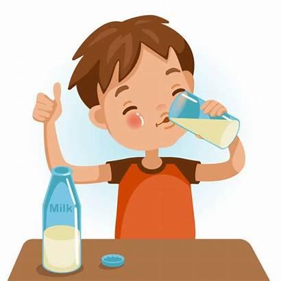 Drinking Milk Boy Kid Drink Child Illustration