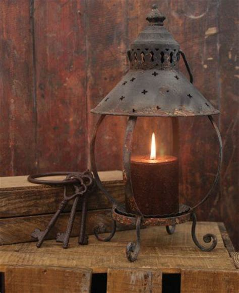 Amazon Primitive Decor Rustic Table Lantern Antique