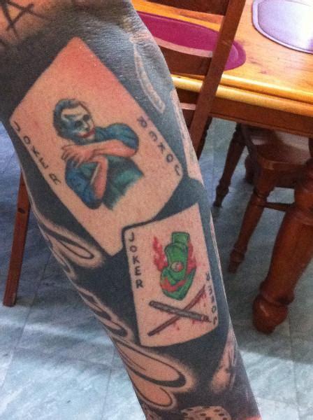 joker card tattoos