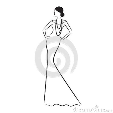 fashion model sketch stock vector image
