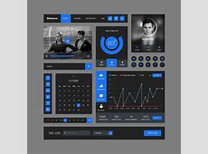 Behance Style Flat Ui KitPSD Free PSDs & Sketch App