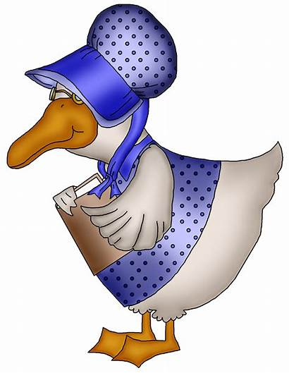 Goose Mother Clip Clipart Nursery Rhymes Rhyme