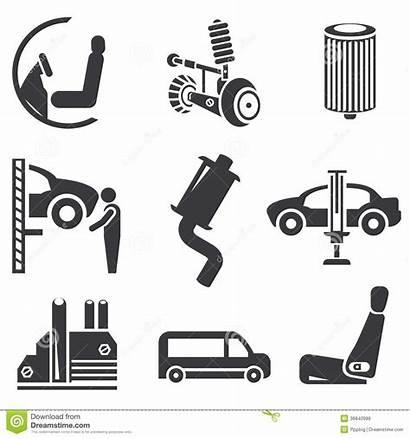 Icon Automotive Icons Icone Parts Garage Automobilistiche