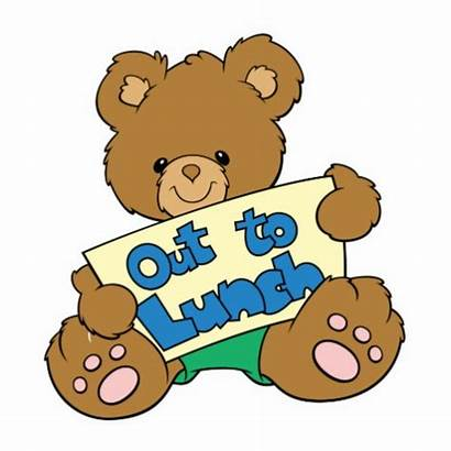 Lunch Sign Clipart Printable Gone Teddy Signs
