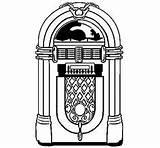 Jukebox Coloring Rockola Anni Dibujo Colorare Degli Dibujoscolorear Acolore Disegno Sock Hop 50s Radio Printable Disegni Theme Juke Fashioned Relacionados sketch template